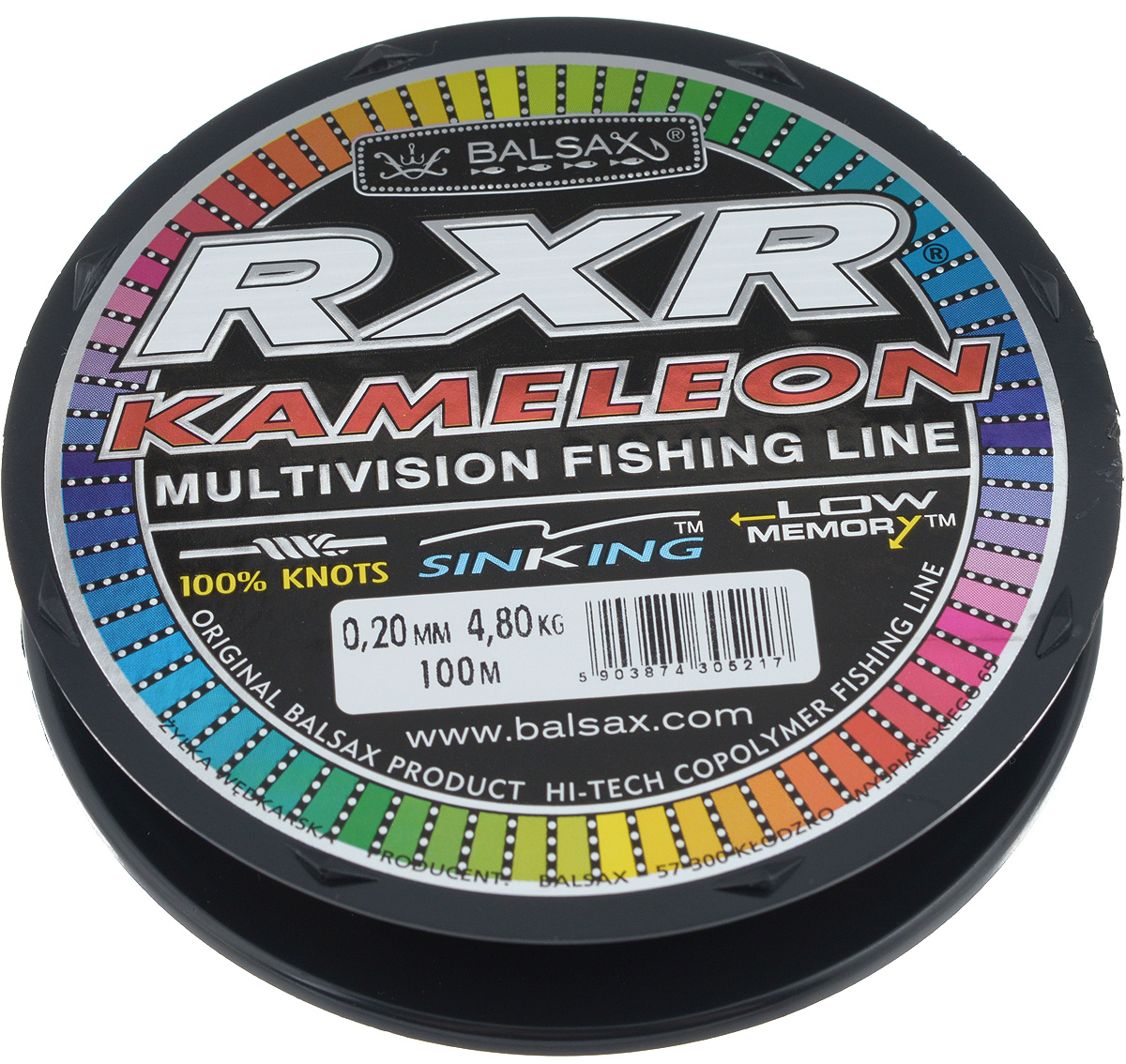 Леска Balsax RXR Kameleon, 100 м, 0,20 мм, 4,8 кгPGPS7797CIS08GBNVЛеска последнего поколения Balsax RXR Kameleon выполнена из 100% нейлона и не боится истирания. Благодаря особым условиям производства, она способна изменять цвет, приспосабливаясь к внешним условиям. Тесты показали, что такая леска отличается высокой прочностью при растяжении и прочностью в местах вязки узлов. Она не меняет форму и не скручивается. Леска Balsax RXR Kameleon позволяет надежнее засечь рыбу и дает возможность чувствовать каждое движение приманки.