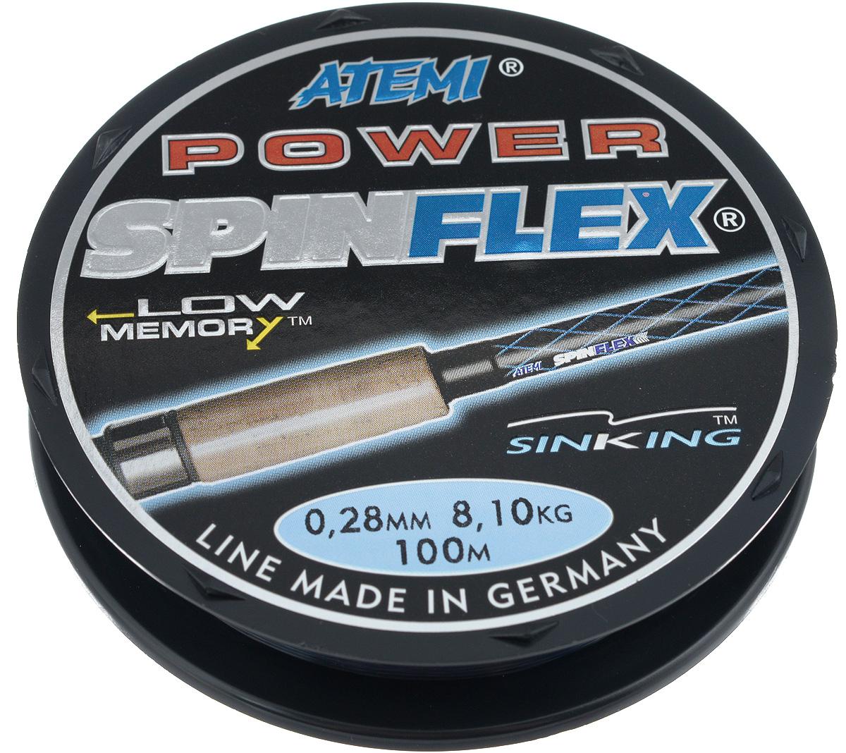 Леска Atemi Spinflex Power, 100 м, 0,28 мм, 8,1 кг atemi sg3 e