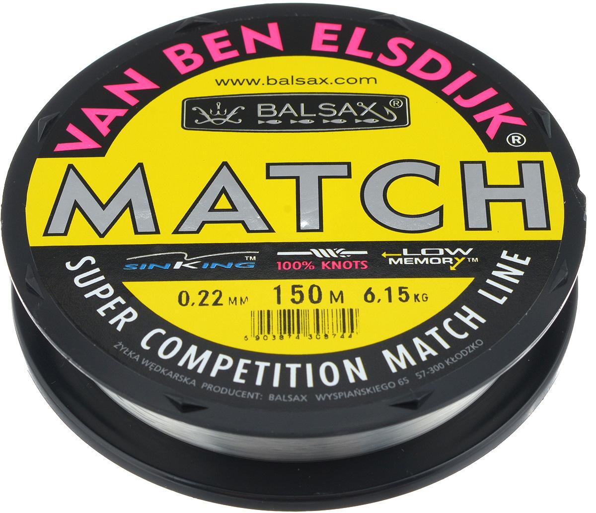 Леска Balsax Match VBE, 150 м, 0,22 мм, 6,15 кг010-01199-23Опытным спортсменам, участвующим в соревнованиях, нужна надежная леска, в которой можно быть уверенным в любой ситуации. Леска Balsax Match VBE отличается замечательной прочностью на узле и высокой сопротивляемостью к истиранию. Она была проверена на склонность к остаточным деформациям, чтобы убедиться в том, что она обладает наиболее подходящей растяжимостью, отвечая самым строгим требованиям рыболовов. Такая леска отлично подходит как для спортивного, так и для любительского рыболовства.