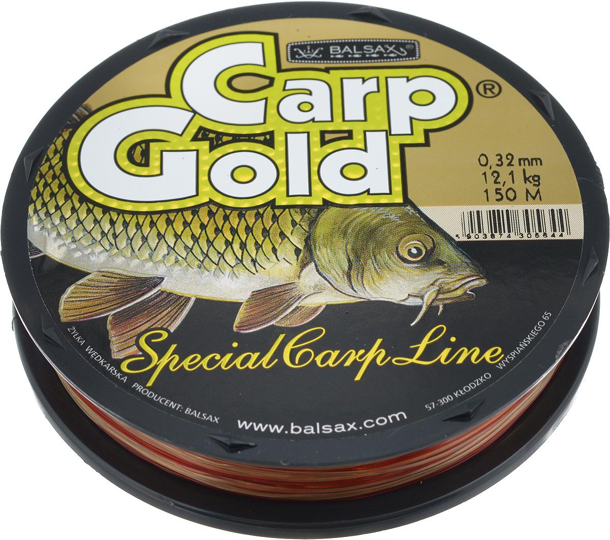 Леска Balsax Gold Carp, 150 м, 0,32 мм, 12,1 кг59276Balsax Gold Carp - это чувствительная леска для крупной рыбы. Отличная сопротивляемость разрыву и контролируемая растяжимость. Превосходно выдерживает на узлах максимальное напряжение, связанное с ловлей крупной рыбы. Благодаря точно подобранным цветам - незаменима при ловли карпа. Такая леска не впитывает воду и маловосприимчива к солнечным лучам.