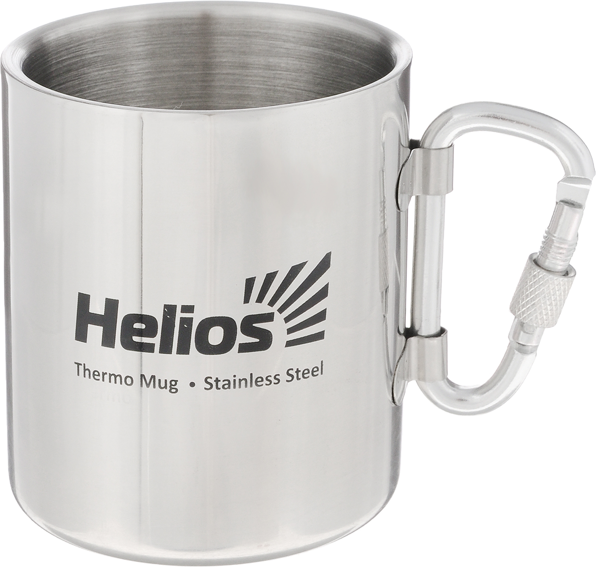 Термокружка HeliosHS TK-005, со складной ручкой-карабином,230 мл128982Термокружка Helios HS TK-005 предназначена специально для горячих и холодных напитков. Она изготовлена из высококачественной нержавеющей стали. Двойная стенка гарантирует долгое сохранение температуры и убережет от ожогов при заваривании чая или кофе. Кружка имеет складную ручку-карабин, которая не нагревается и позволяет подвесить кружку на рюкзак или на ремень.Такая кружка прекрасно сохраняет свою целостность и первозданный вид даже при многократном использовании.Диаметр кружки (по верхнему краю): 7 см. Высота кружки: 8 см.