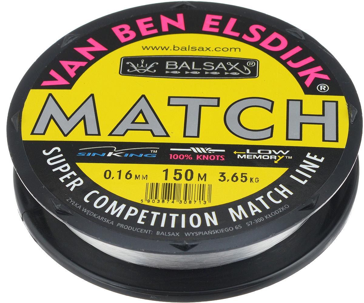 Леска Balsax Match VBE, 150 м, 0,16 мм, 3,65 кг59278Опытным спортсменам, участвующим в соревнованиях, нужна надежная леска, в которой можно быть уверенным в любой ситуации. Леска Balsax Match VBE отличается замечательной прочностью на узле и высокой сопротивляемостью к истиранию. Она была проверена на склонность к остаточным деформациям, чтобы убедиться в том, что она обладает наиболее подходящей растяжимостью, отвечая самым строгим требованиям рыболовов. Такая леска отлично подходит как для спортивного, так и для любительского рыболовства.