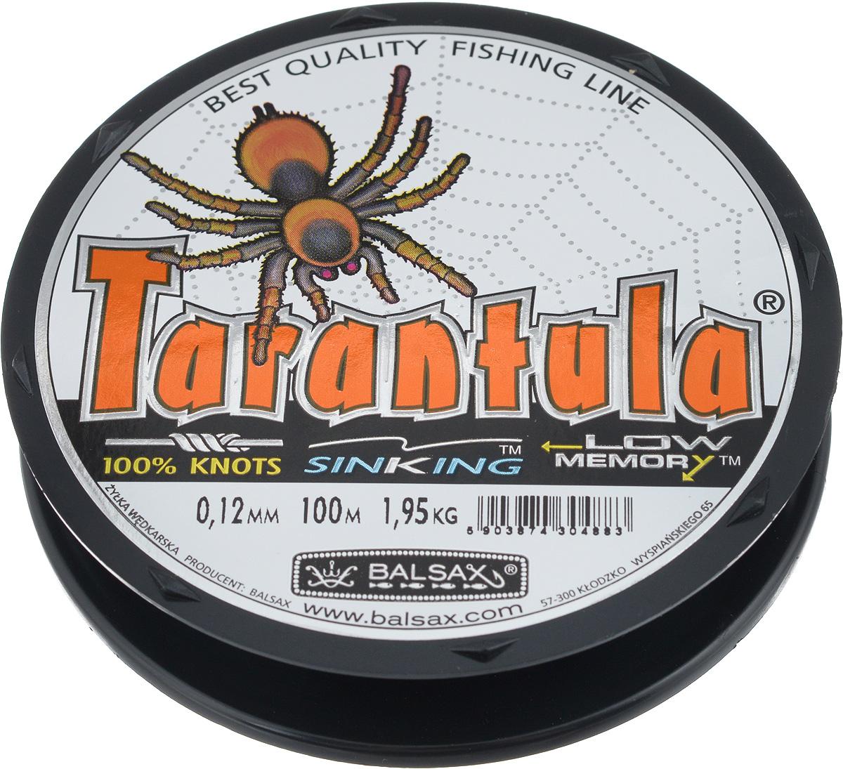 Леска Balsax Tarantula, 100 м, 0,12 мм, 1,95 кг59278Леска Balsax Tarantula выполнена из нейлоновой рибозы с покрытием из тефлона. Новая молекулярная структура лески отличается повышенной сопротивляемостью к разрыву, но при этом она способна и растягиваться. Растяжимость в случае применения этой лески является отличным достоинством, особенно во время энергичной борьбы с рыбой, как амортизатор защищая оснастку от обрыва.