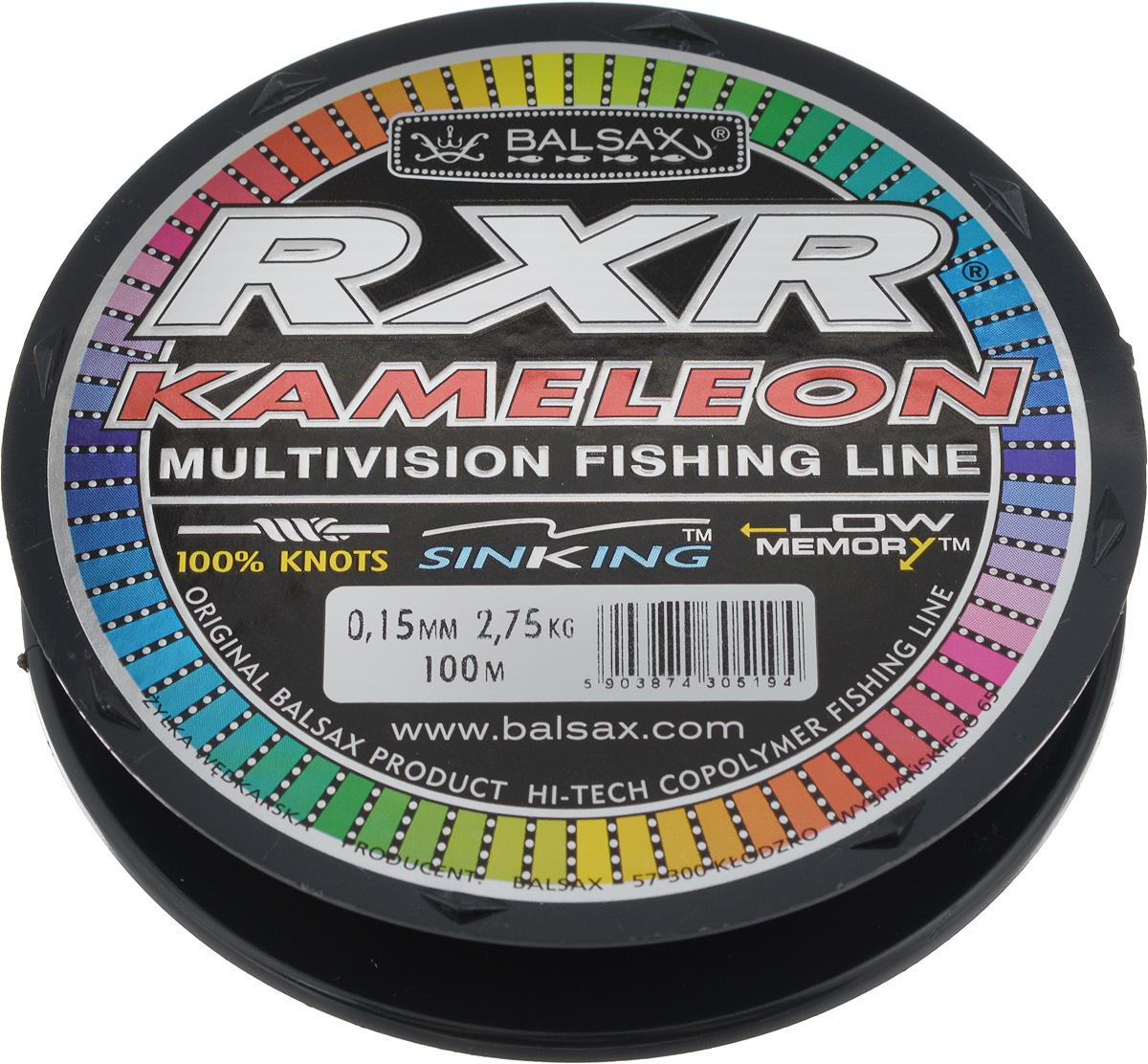 Леска Balsax RXR Kameleon, 100 м, 0,15 мм, 2,75 кг95437-530Леска последнего поколения Balsax RXR Kameleon выполнена из 100% нейлона и не боится истирания. Благодаря особым условиям производства, она способна изменять цвет, приспосабливаясь к внешним условиям. Тесты показали, что такая леска отличается высокой прочностью при растяжении и прочностью в местах вязки узлов. Она не меняет форму и не скручивается. Леска Balsax RXR Kameleon позволяет надежнее засечь рыбу и дает возможность чувствовать каждое движение приманки.