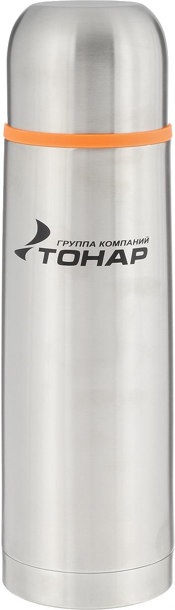 Термос Тонар HS TM-016, 1 л115510Термос Тонар HS TM-016 выполнен из нержавеющей стали и оснащен двойными стенками с вакуумной изоляцией, которая позволяет сохранять напитки горячими или холодными длительное время. Корпус покрыт защитным прозрачным лаком. Термос отлично сохраняет температуру, свежесть напитка и его оригинальный вкус. Дополнительная теплоизоляция внутри пробки. Пробка без кнопки надежно закрывает колбу и проста в использовании. Крышка может послужить вместительной чашкой, также в комплект входит инструкция по эксплуатации. Термос сохраняет тепло до 12 часов и удерживает холод до 24 часов.Диаметр горлышка: 5 см.Диаметр основания: 8,5 см.Высота (с учетом крышки): 30,3 см.Размер крышки: 8 х 8 х 6 см.