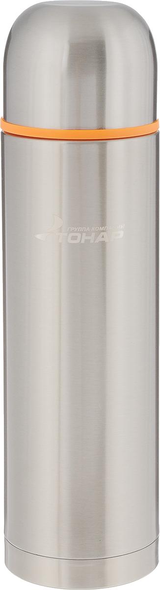 Термос Тонар HS TM-022, с чашей, 1,2 л67742Термос Тонар HS TM-022 выполнен из нержавеющей стали и оснащен двойными стенками с вакуумной изоляцией, которая позволяет сохранять напитки горячими или холодными длительное время. Отлично сохраняет температуру, свежесть напитка и его оригинальный вкус. Дополнительная теплоизоляция внутри пробки. Пробка без кнопки надежно закрывает колбу и проста в использовании. Крышка может послужить вместительной чашкой, также в комплект входят дополнительная чаша и инструкция по эксплуатации. Термос сохраняет тепло до 12 часов и удерживает холод до 24 часов.Диаметр горлышка: 5 см.Диаметр основания: 8,8 см.Высота (с учетом крышки): 32,5 см.Размер крышки: 9 х 9 х 7 см. Размер чаши: 8 х 8 х 5 см.