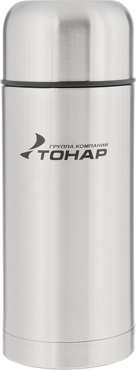 Термос Тонар HS TM-019, с чехлом, 1,2 л67742Термос Тонар HS TM-019 - универсальная модель, оснащенная двойными стенками с вакуумной изоляцией, которая позволяет сохранять напитки горячими или холодными длительное время. Корпус изготовлен из высококачественной нержавеющей стали. Широкое горло позволяет использовать термос для первых и вторых блюд. Термос оснащен глухой крышкой-пробкой, которая предотвращает проливание, а кнопка служит для спуска пара. Крышку можно использовать как чашку. В комплект входят удобный чехол для хранения и переноски термоса, инструкция по эксплуатации. Стильный металлический термос понравится абсолютно всем и впишется в любой интерьер кухни.Диаметр горлышка: 8 см.Диаметр основания термоса: 10 см. Размер крышки-чаши: 10,3 х 10,3 х 6 см.Высота термоса (с учетом крышки): 27 см.
