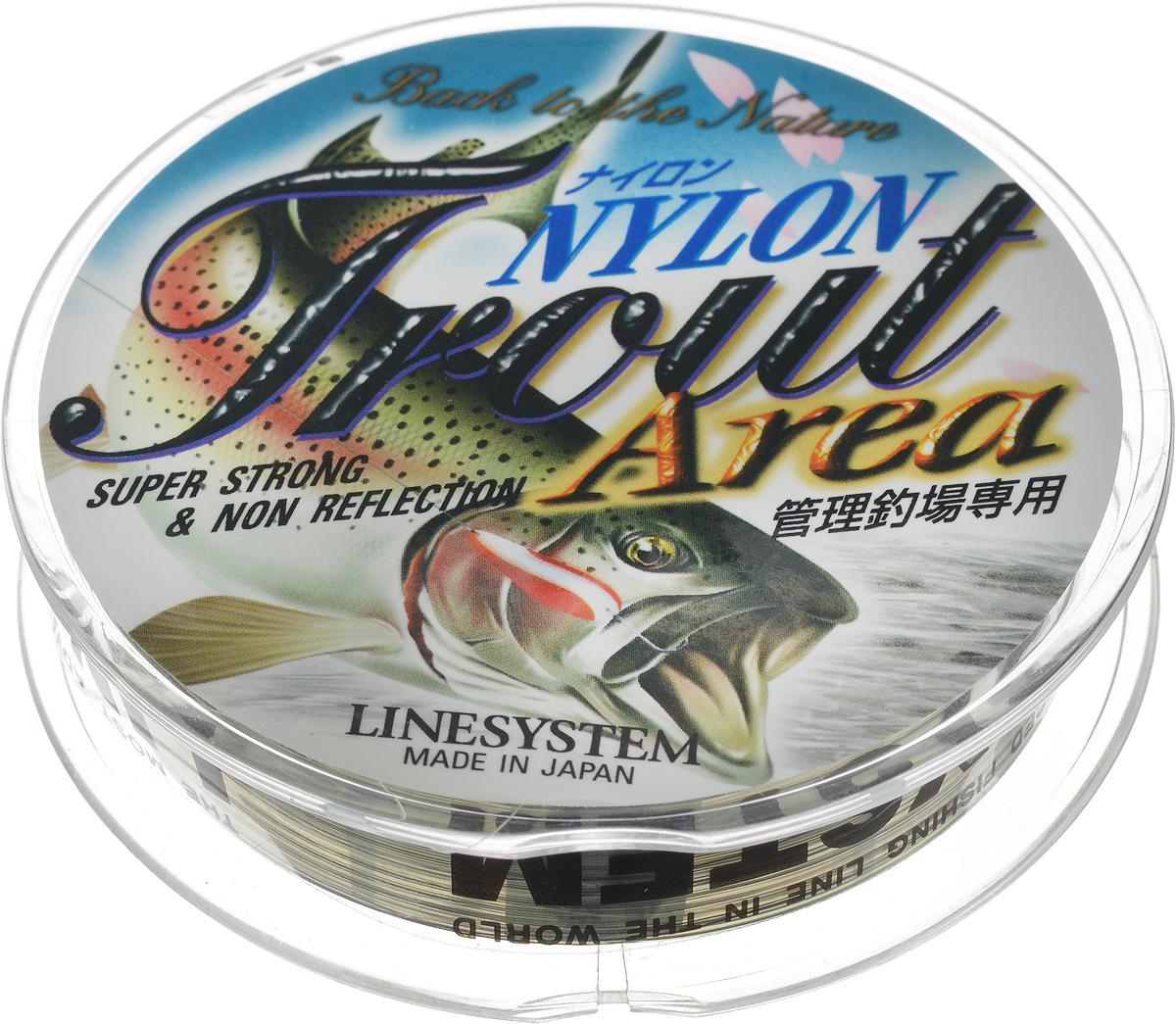 Леска Trout Area  Linesystem , цвет: зеленый, черный, диаметр 0,128 мм, длина 120 м - Рыбалка