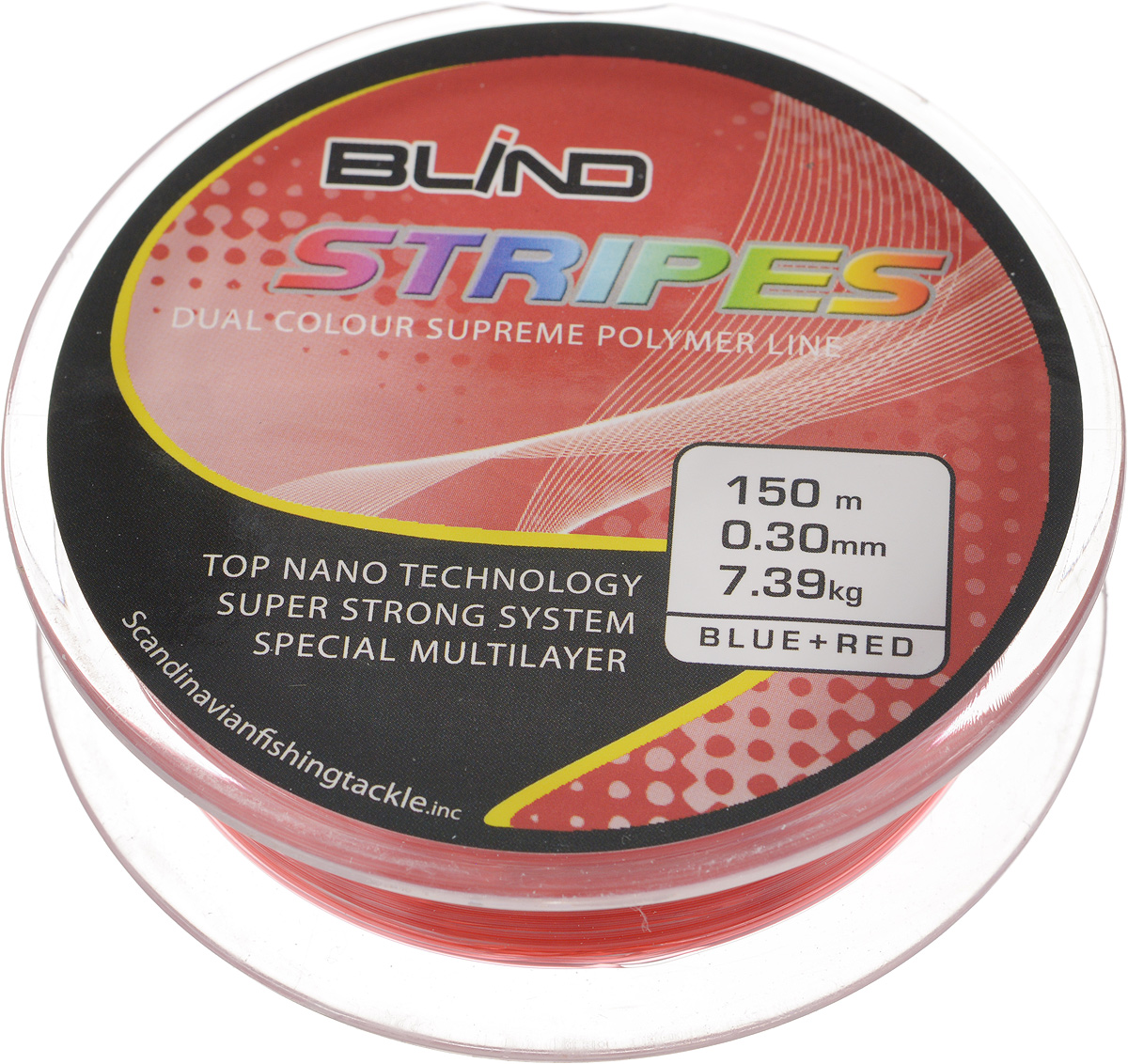 Леска Blind Fishing Line Stripes, 150 м, 0,30 мм, 7,39 кг
