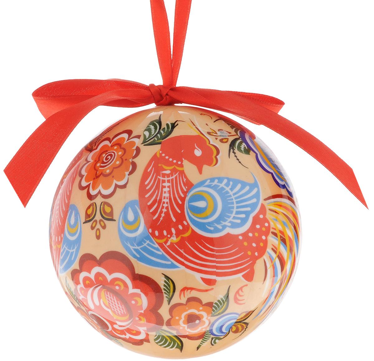Украшение новогоднее подвесное Незабудка Шар. Птички, диаметр 10 смC0038550Новогоднее подвесное украшение Шар. Птички отлично подойдет для декорации вашего дома и новогодней ели. Украшение изготовлено из вспененного полистирола и выполнено в виде елочного шара, оформленного изображением птиц. Благодаря атласной ленточке, украшение можно повесить в любом месте. Оригинальный дизайн и красочное исполнение создадут праздничное настроение.