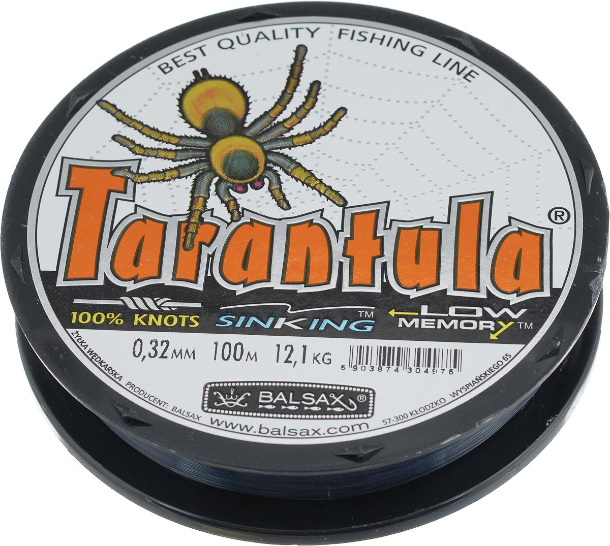 Леска Balsax Tarantula, 100 м, 0,32 мм, 12,1 кгГризлиЛеска Balsax Tarantula выполнена из нейлоновой рибозы с покрытием из тефлона. Новая молекулярная структура лески отличается повышенной сопротивляемостью к разрыву, но при этом она способна и растягиваться. Растяжимость в случае применения этой лески является отличным достоинством, особенно во время энергичной борьбы с рыбой, как амортизатор защищая оснастку от обрыва.