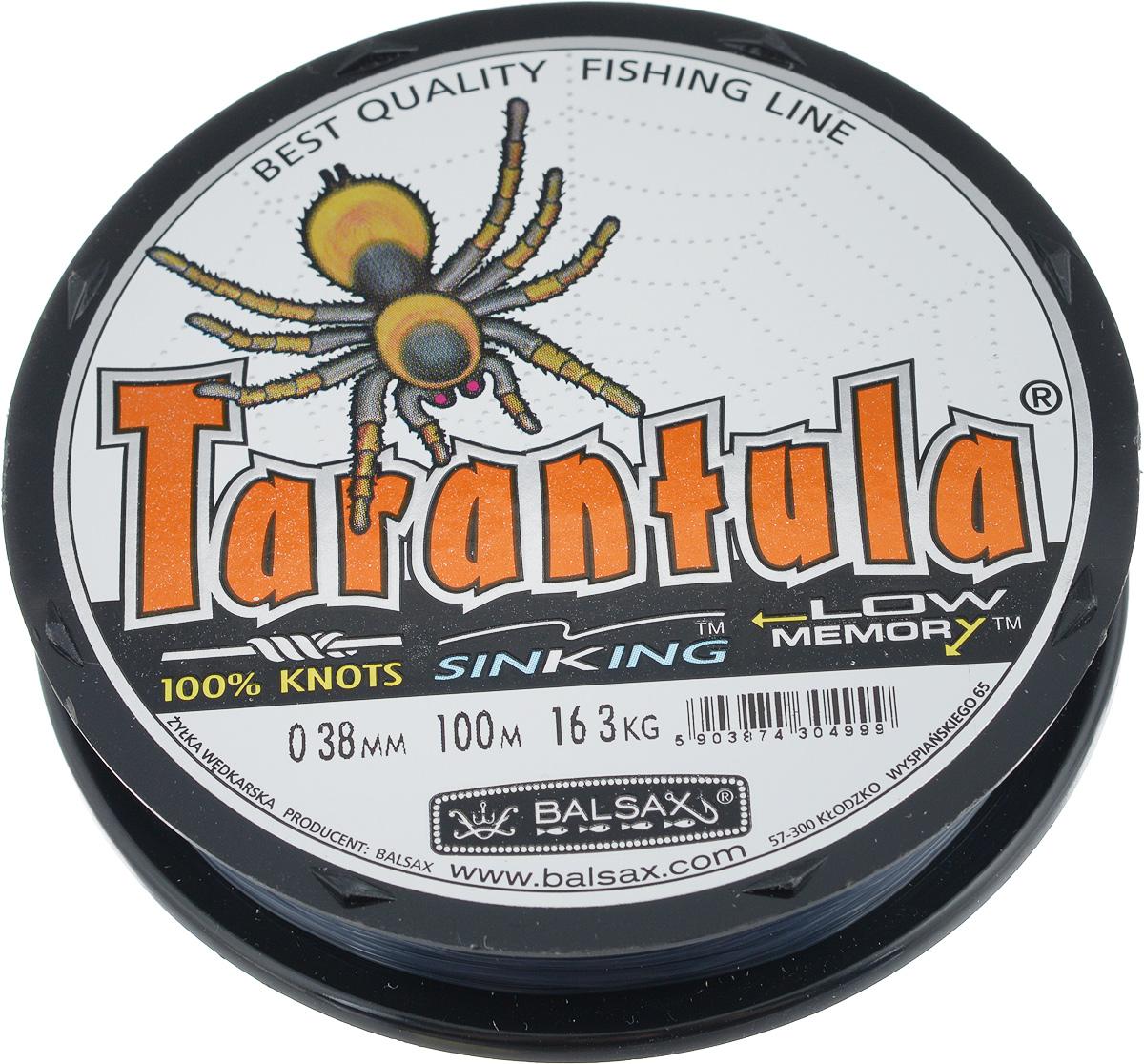 Леска Balsax Tarantula, 100 м, 0,38 мм, 16,3 кг304-10028Леска Balsax Tarantula выполнена из нейлоновой рибозы с покрытием из тефлона. Новая молекулярная структура лески отличается повышенной сопротивляемостью к разрыву, но при этом она способна и растягиваться. Растяжимость в случае применения этой лески является отличным достоинством, особенно во время энергичной борьбы с рыбой, как амортизатор защищая оснастку от обрыва.
