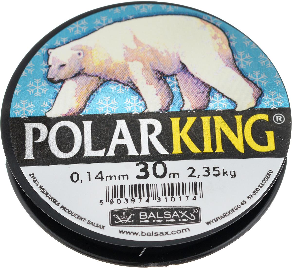 Леска зимняя Balsax Polar King, 30 м, 0,14 мм, 2,35 кг1232630Леска Balsax Polar King изготовлена из 100% нейлона и очень хорошо выдерживает низкие температуры. Даже в самом холодном климате, при температуре вплоть до -40°C, она сохраняет свои свойства практически без изменений, в то время как традиционные лески становятся менее эластичными и теряют прочность.Поверхность лески обработана таким образом, что она не обмерзает и отлично подходит для подледного лова. Прочна в местах вязки узлов даже при минимальном диаметре.