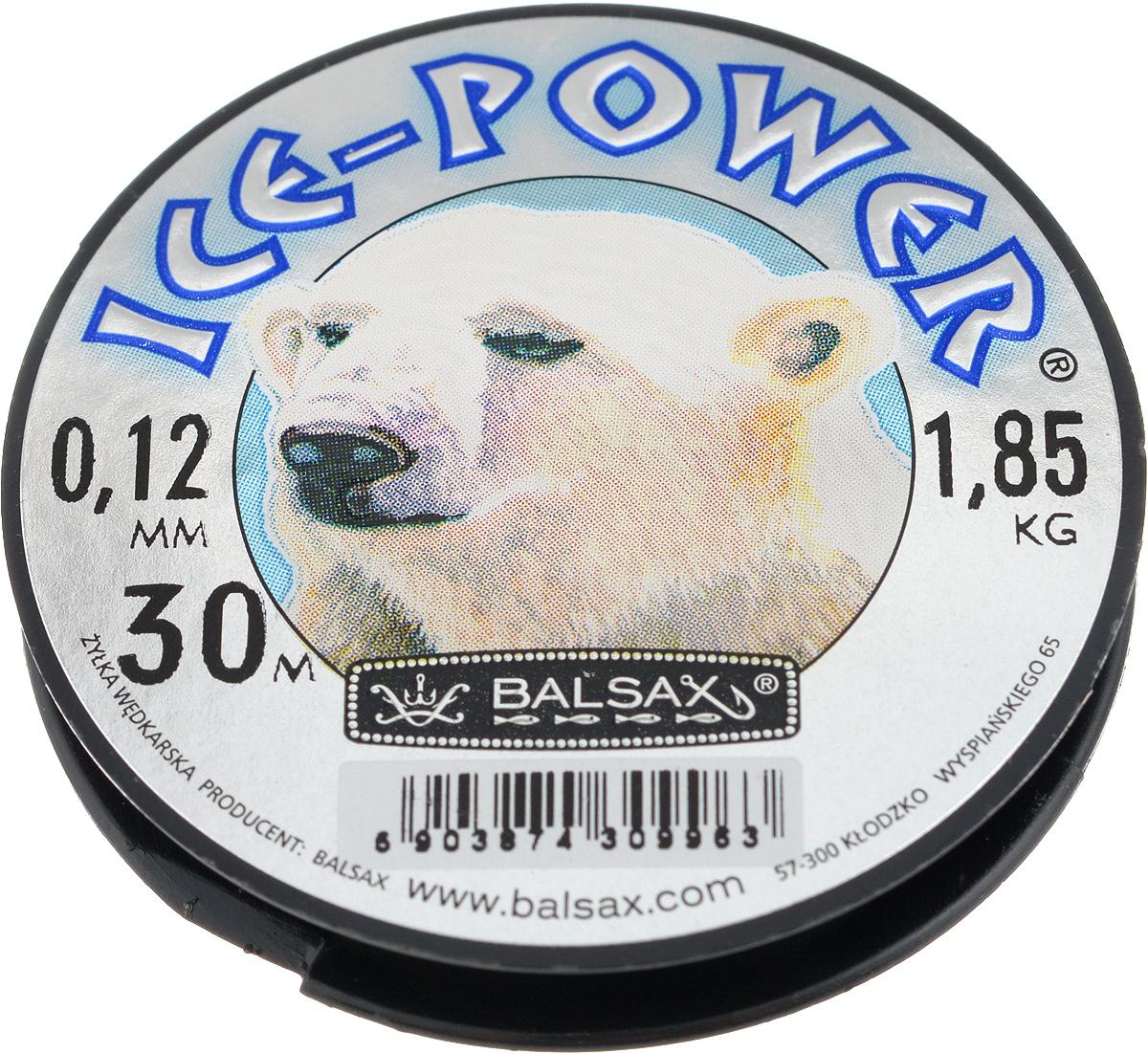 Леска зимняя Balsax Ice Power, 30 м, 0,12 мм, 1,85 кг48311Леска Balsax Ice Power изготовлена из 100% нейлона и очень хорошо выдерживает низкие температуры. Даже в самом холодном климате, при температуре вплоть до -40°C, она сохраняет свои свойства практически без изменений, в то время как традиционные лески становятся менее эластичными и теряют прочность.Поверхность лески обработана таким образом, что она не обмерзает и отлично подходит для подледного лова. Прочна в местах вязки узлов даже при минимальном диаметре.