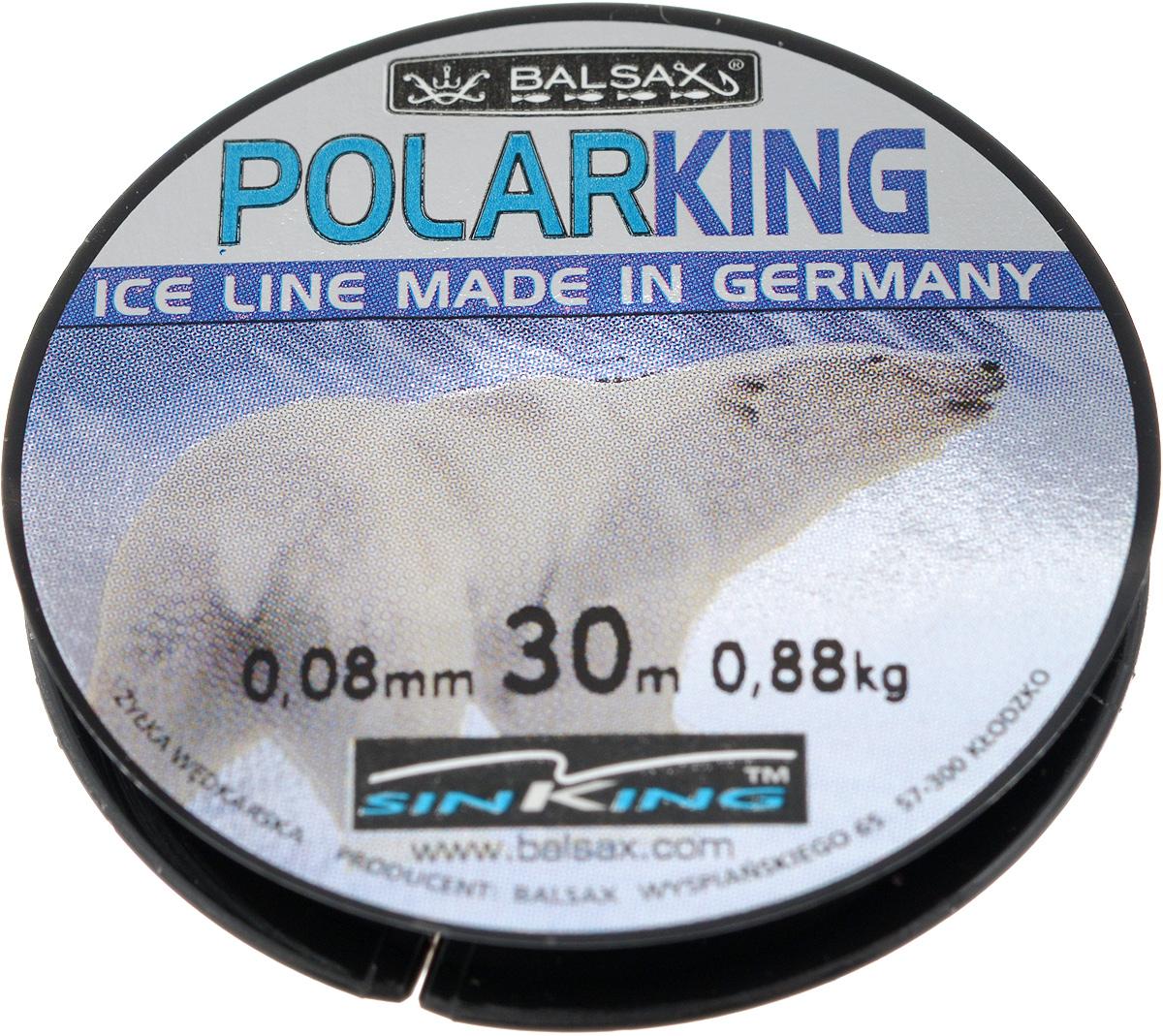 Леска зимняя Balsax Polar King, 30 м, 0,08 мм, 0,88 кг95437-530Леска Balsax Polar King изготовлена из 100% нейлона и очень хорошо выдерживает низкие температуры. Даже в самом холодном климате, при температуре вплоть до -40°C, она сохраняет свои свойства практически без изменений, в то время как традиционные лески становятся менее эластичными и теряют прочность.Поверхность лески обработана таким образом, что она не обмерзает и отлично подходит для подледного лова. Прочна в местах вязки узлов даже при минимальном диаметре.