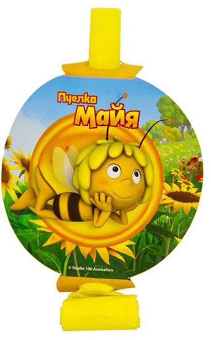 Веселая затея Язык-гудок с карточкой Пчелка Майя 8 шт