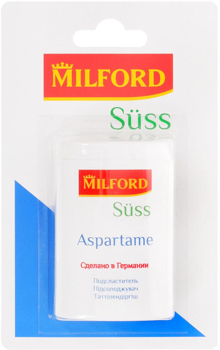 Milford Suss подсластитель с аспартамом, 300 штнам0051 таблетка подсластителя содержит 7 мг аспартама и 7 мг ацесульфама К и соответствует по сладости 1 кусочку (примерно 4,4 грамма) сахара. 300 таблеток соответствуют по сладости 1,32 кг сахара. Содержит лактозу.Содержит источник фенилаланина. Противопоказан больным фенилкетонурией.Уважаемые клиенты! Обращаем ваше внимание, что полный перечень состава продукта представлен на дополнительном изображении.
