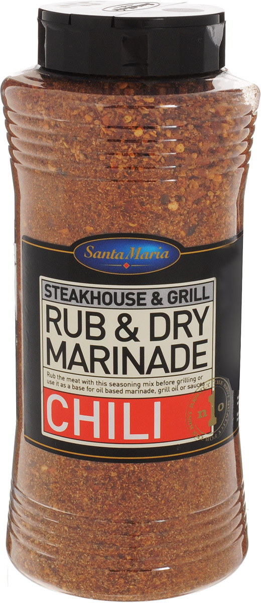 Santa Maria Сухой маринад Чили, 700 г0120710Сухой маринад с ярким ароматом и вкусом чили перца, копченой паприки и трав. Подходит к говядине, свинине, курице, блюдам из фарша и рыбы.Уважаемые клиенты! Обращаем ваше внимание, что полный перечень состава продукта представлен на дополнительном изображении.