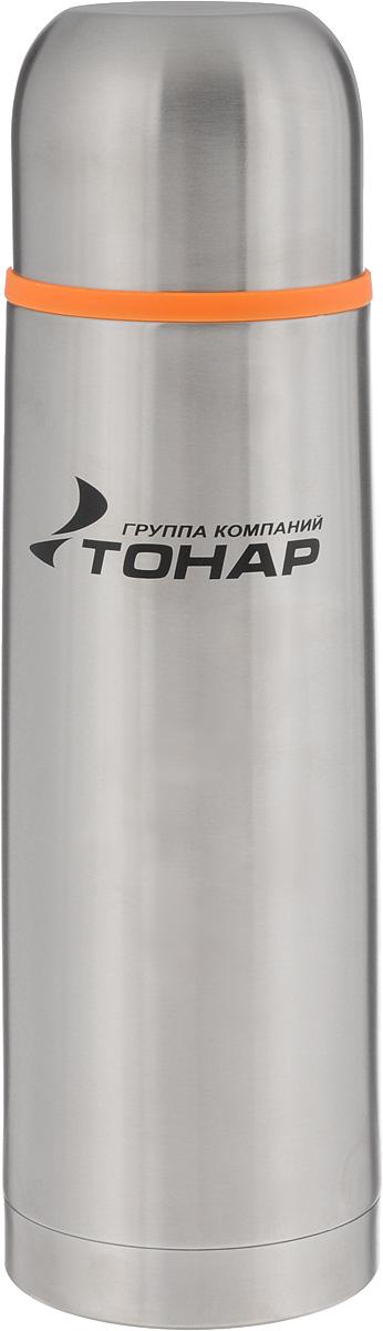 Термос ТОНАР HS TM-015, 750 млP734002Термос ТОНАР HS TM-015 выполнен из нержавеющей стали и оснащен двойными стенками с вакуумной изоляцией, которая позволяет сохранять напитки горячими или холодными длительное время. Корпус покрыт защитным прозрачным лаком. Термос отлично сохраняет температуру, свежесть напитка и его оригинальный вкус. Дополнительная теплоизоляция внутри пробки. Пробка без кнопки надежно закрывает колбу и проста в использовании. Крышка может послужить вместительной чашкой, также в комплект входит инструкция по эксплуатации. Термос сохраняет тепло до 12 часов и удерживает холод до 24 часов.Диаметр горлышка: 5 см.Диаметр основания: 8 см.Высота (с учетом крышки): 27,5 см.Размер крышки: 8 х 8 х 6 см.