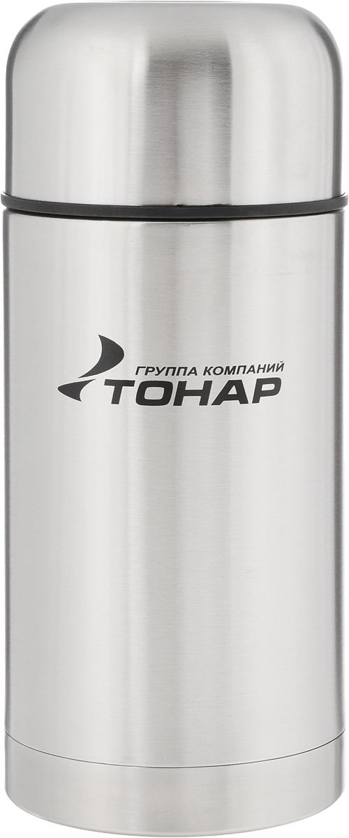 Термос ТОНАР HS TM-018, с чехлом, 1 лAS009Термос ТОНАР HS TM-018 - универсальная модель, оснащенная двойными стенками с вакуумной изоляцией, которая позволяет сохранять напитки горячими или холодными длительное время. Корпус изготовлен из высококачественной нержавеющей стали. Широкое горло позволяет использовать термос для первых и вторых блюд. Термос оснащен глухой крышкой-пробкой, которая предотвращает проливание, а кнопка служит для спуска пара. Крышку можно использовать как чашку. В комплект входят удобный чехол для хранения и переноски термоса, инструкция по эксплуатации. Стильный металлический термос понравится абсолютно всем и впишется в любой интерьер кухни.Диаметр горлышка: 8 см.Диаметр основания термоса: 10 см. Размер крышки-чаши: 10,3 х 10,3 х 6 см.Высота термоса (с учетом крышки): 24,5 см.