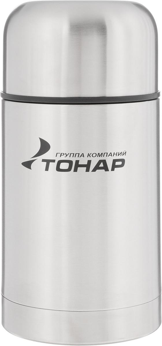 Термос ТОНАР HS TM-017, с чехлом, 750 мл115510Термос ТОНАР HS TM-017 - универсальная модель, оснащенная двойными стенками с вакуумной изоляцией, которая позволяет сохранять напитки горячими или холодными длительное время. Корпус изготовлен из высококачественной нержавеющей стали. Широкое горло позволяет использовать термос для первых и вторых блюд. Термос оснащен глухой крышкой-пробкой, которая предотвращает проливание, а кнопка служит для спуска пара. Крышку можно использовать как чашку. В комплект входят удобный чехол для хранения и переноски термоса, инструкция по эксплуатации. Стильный металлический термос понравится абсолютно всем и впишется в любой интерьер кухни.Диаметр горлышка: 8 см.Диаметр основания термоса: 10 см. Размер крышки-чаши: 10,3 х 10,3 х 6 см.Высота термоса (с учетом крышки): 20 см.