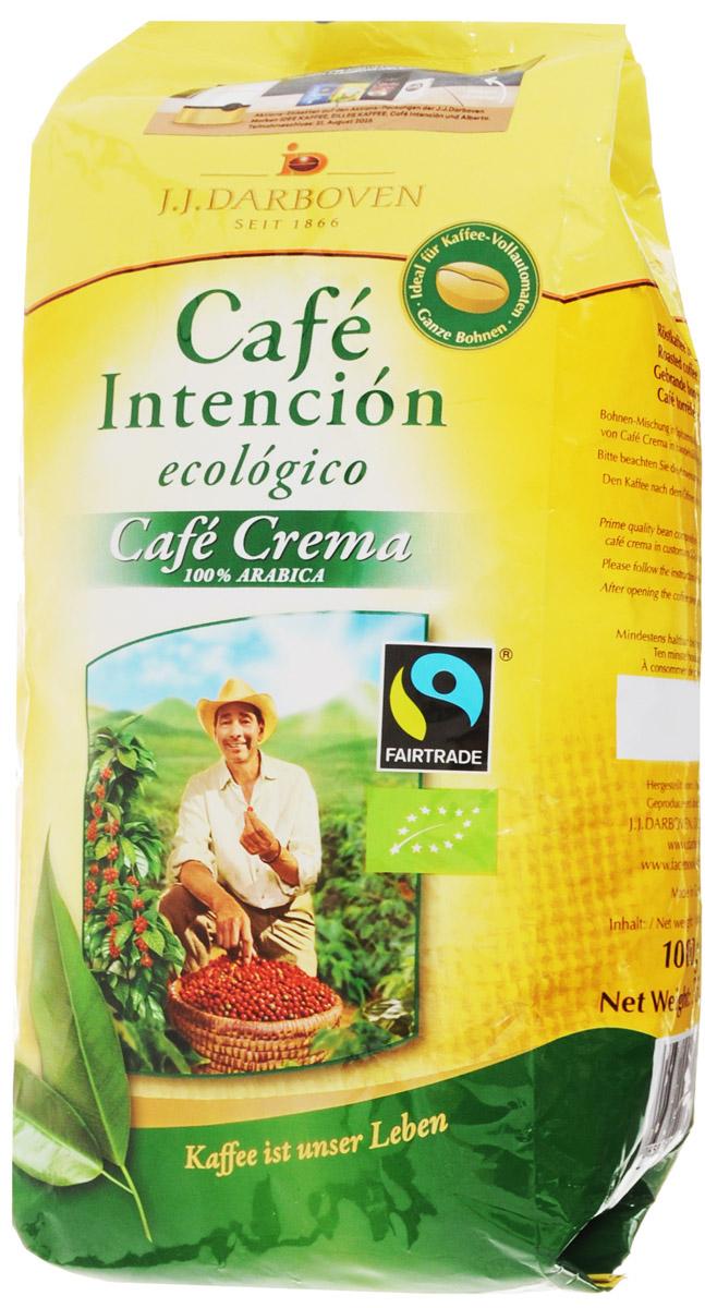 J.J. Darboven Intencion Ecologico Crema кофе в зернах, 1 кг0120710Cafe Intencion Ecologico Crema - это натуральный жареный кофе в зернах, выращенный на лучших плантациях Центральной и Южной Америки. Компания J.J.Darboven работает с кофе Fair trade c 1993 года. Такой кофе закупается напрямую у небольших фермерских хозяйств выращивающих кофе в высокогорных районах. Фермеры получают настоящую честную цену без участия посредников. Часть кофе Fair trade поставляется с плантаций сертифицированных как экологически чистых, что подразумевает полный отказ от применения химических удобрений и любых пестицидов. Кофе Fair trade автоматически является кофе высшего качества из возможного, так как небольшие хозяйства заботятся о своих плантациях и урожае самым лучшим образом, так как благополучие их семей зависит исключительно от качества собранного урожая кофейных зерен.Уважаемые клиенты! Обращаем ваше внимание на возможные изменения в дизайне упаковки. Качественные характеристики товара остаются неизменными. Поставка осуществляется в зависимости от наличия на складе.
