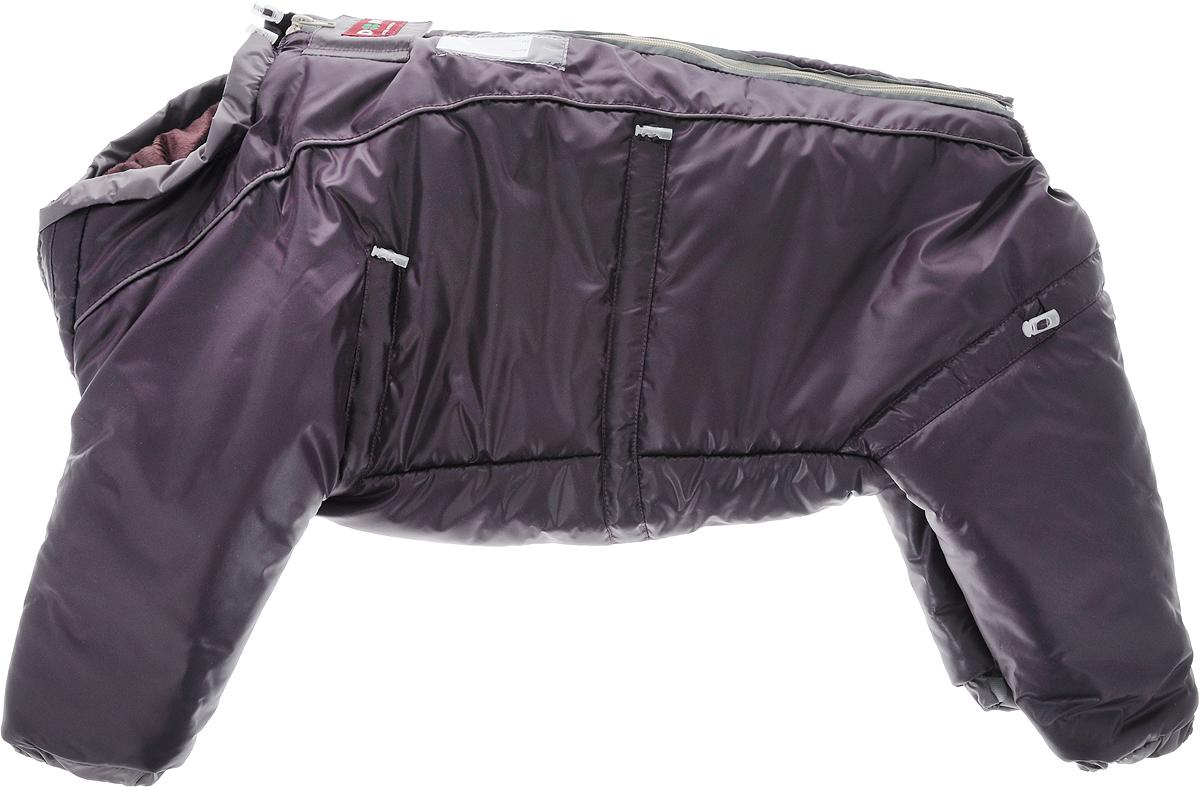 Комбинезон для собак Dogmoda  Doggs , зимний, для девочки, цвет: темно-фиолетовый. Размер XL - Одежда, обувь, украшения