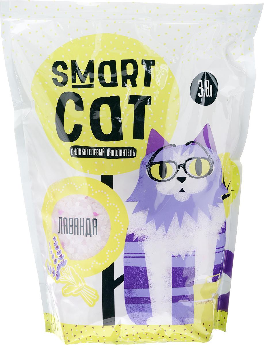 Наполнитель для кошачьих туалетов Smart Cat, силикагелевый, с ароматом лаванды, 3,8 л00000000008Силикагелевый наполнитель Smart Cat представляет собой мелкие белоснежные гранулы с ароматом лаванды, изготовленные из сухого геля поликремниевой кислоты. Такой состав обладает прекрасной способностью впитывать жидкость, а также мгновенно поглощать и удерживать туалетные запахи.Наполнитель Smart Cat не вызывает у питомцев аллергических реакций, не поднимает пыль при использовании и не прилипает к нежным кошачьим лапкам и длинной шерсти, а значит, не разносится по окружающей туалет территории. Использованный наполнитель из силикагеля удаляется из кошачьего лотка специальным совочком и утилизируется в мусорное ведро (его нельзя выбрасывать в унитаз).Наполнитель Smart Cat заботится о чистоте вашего дома и комфорте питомца! Товар сертифицирован.