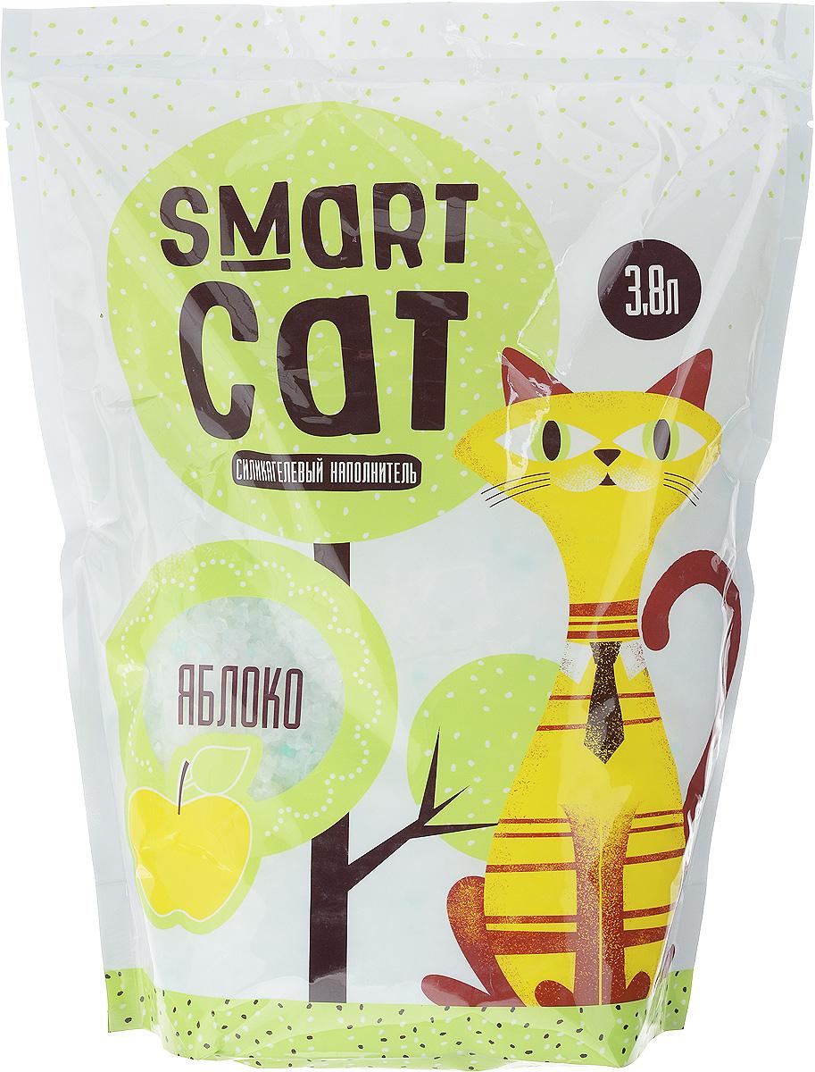 Наполнитель для кошачьих туалетов Smart Cat, силикагелевый, с ароматом яблока, 3,8 л12171996Силикагелевый наполнитель Smart Cat представляет собой мелкие белоснежные гранулы с ароматом яблока, изготовленные из сухого геля поликремниевой кислоты. Такой состав обладает прекрасной способностью впитывать жидкость, а также мгновенно поглощать и удерживать туалетные запахи.Наполнитель Smart Cat не вызывает у питомцев аллергических реакций, не поднимает пыль при использовании и не прилипает к нежным кошачьим лапкам и длинной шерсти, а значит, не разносится по окружающей туалет территории. Использованный наполнитель из силикагеля удаляется из кошачьего лотка специальным совочком и утилизируется в мусорное ведро (его нельзя выбрасывать в унитаз).Наполнитель Smart Cat заботится о чистоте вашего дома и комфорте питомца! Товар сертифицирован.