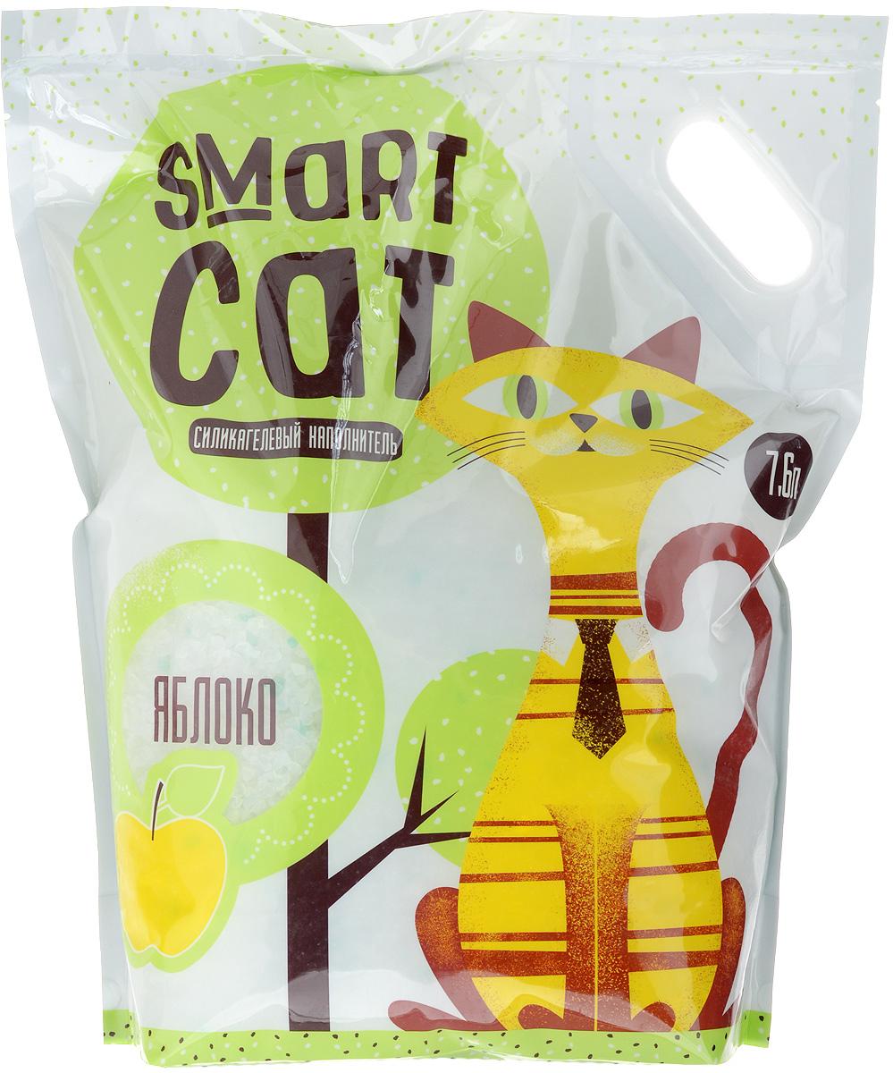 Наполнитель для кошачьих туалетов Smart Cat, силикагелевый, с ароматом яблока, 7,6 л0120710Силикагелевый наполнитель Smart Cat представляет собой мелкие белоснежные гранулы с ароматом яблока, изготовленные из сухого геля поликремниевой кислоты. Такой состав обладает прекрасной способностью впитывать жидкость, а также мгновенно поглощать и удерживать туалетные запахи.Наполнитель Smart Cat не вызывает у питомцев аллергических реакций, не поднимает пыль при использовании и не прилипает к нежным кошачьим лапкам и длинной шерсти, а значит, не разносится по окружающей туалет территории. Использованный наполнитель из силикагеля удаляется из кошачьего лотка специальным совочком и утилизируется в мусорное ведро (его нельзя выбрасывать в унитаз).Наполнитель Smart Cat заботится о чистоте вашего дома и комфорте питомца! Товар сертифицирован.