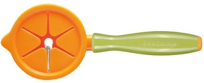 Приспособление для нарезки овощей полосками Tescoma Presto Carving. 422060FS-91909Приспособление для нарезки овощей полосками Tescoma Presto Carving предназначено для изготовления декоративной паутины из моркови, огурца, редиса и т.д. Изготовлено из высококачественной нержавеющей стали и прочной пластмассы. Можно мыть в посудомоечной машине. Поставляется с защитной крышкой для безопасного использования и хранения.