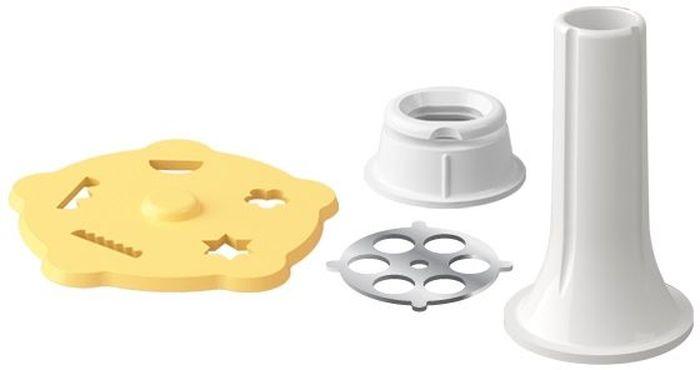 Аксессуары для мясорубки Tescoma Handy, : формочка для печенья, наполнитель колбас. 64358754 009312Формочка для печенья прекрасно подходит для приготовления домашнего печенья, наполнитель - для простого приготовления домашних колбас. Изготовлено из прочного пластика и первоклассной нержавеющей стали, подходит для мытья в посудомоечной машине, предназначено для мясорубки HANDY.Инструкция по использованию и рецепты внутри упаковки.