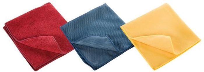 Кухонные полотенца Tescoma Clean Kit, 3шт. 900670VT-1520(SR)Кухонные полотенца Tescoma Clean Kit выполнены из 100% хлопка. Полотенца отлично подходят для сухой и влажной уборки на кухне, для полировки приборов из нержавеющей стали, стеклянных поверхностей включая стеклокераммические плиты, для чистки плоских экранов, мониторов.