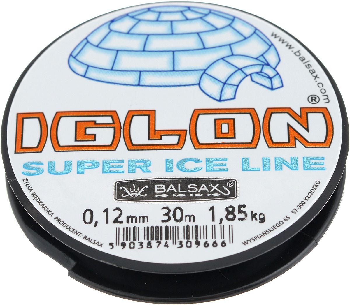 Леска зимняя Balsax Iglon, 30 м, 0,12 мм, 1,85 кг59271Леска Balsax Iglon изготовлена из 100% нейлона и очень хорошо выдерживает низкие температуры. Даже в самом холодном климате, при температуре вплоть до -40°C, она сохраняет свои свойства практически без изменений, в то время как традиционные лески становятся менее эластичными и теряют прочность.Поверхность лески обработана таким образом, что она не обмерзает и отлично подходит для подледного лова. Прочна в местах вязки узлов даже при минимальном диаметре.