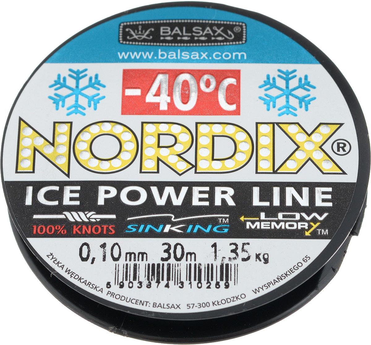 Леска зимняя Balsax Nordix, 30 м, 0,10 мм, 1,35 кгBS1-15030Леска Balsax Nordix изготовлена из 100% нейлона и очень хорошо выдерживает низкие температуры. Даже в самом холодном климате, при температуре вплоть до -40°C, она сохраняет свои свойства практически без изменений, в то время как традиционные лески становятся менее эластичными и теряют прочность.Поверхность лески обработана таким образом, что она не обмерзает и отлично подходит для подледного лова. Прочна в местах вязки узлов даже при минимальном диаметре.