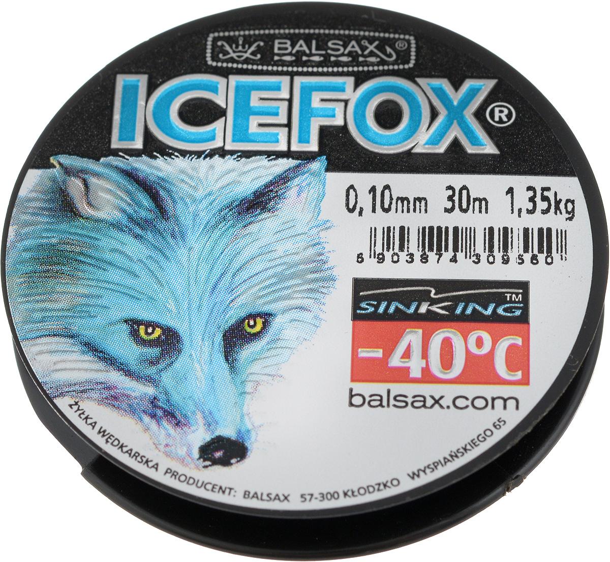 Леска зимняя Balsax Ice Fox, 30 м, 0,10 мм, 1,35 кг4271825Леска Balsax Ice Fox изготовлена из 100% нейлона и очень хорошо выдерживает низкие температуры. Даже в самом холодном климате, при температуре вплоть до -40°C, она сохраняет свои свойства практически без изменений, в то время как традиционные лески становятся менее эластичными и теряют прочность.Поверхность лески обработана таким образом, что она не обмерзает и отлично подходит для подледного лова. Прочна в местах вязки узлов даже при минимальном диаметре.