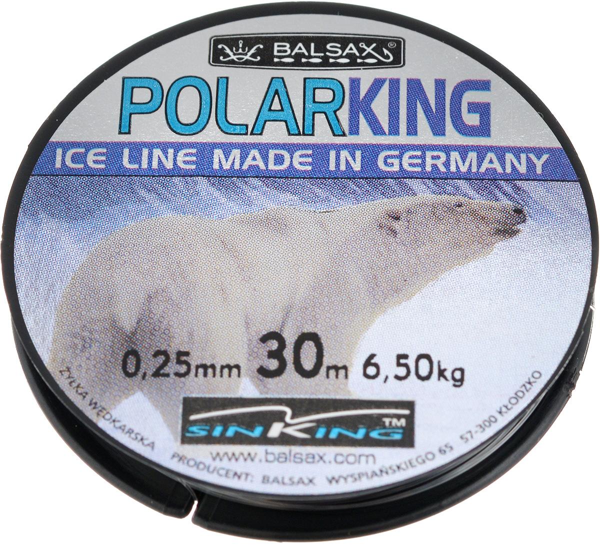 Леска зимняя Balsax Polar King, 30 м, 0,25 мм, 6,5 кг310-08012Леска Balsax Polar King изготовлена из 100% нейлона и очень хорошо выдерживает низкие температуры. Даже в самом холодном климате, при температуре вплоть до -40°C, она сохраняет свои свойства практически без изменений, в то время как традиционные лески становятся менее эластичными и теряют прочность.Поверхность лески обработана таким образом, что она не обмерзает и отлично подходит для подледного лова. Прочна в местах вязки узлов даже при минимальном диаметре.