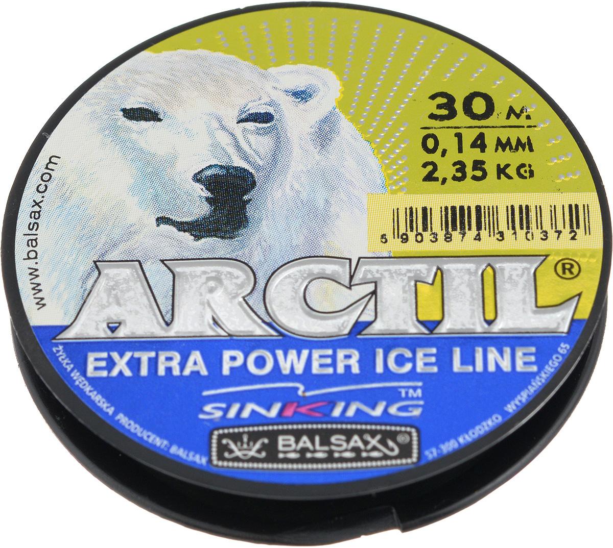 Леска зимняя Balsax Arctil, 30 м, 0,14 мм, 2,35 кг59284Леска Balsax Arctil изготовлена из 100% нейлона и очень хорошо выдерживает низкие температуры. Даже в самом холодном климате, при температуре вплоть до -40°C, она сохраняет свои свойства практически без изменений, в то время как традиционные лески становятся менее эластичными и теряют прочность.Поверхность лески обработана таким образом, что она не обмерзает и отлично подходит для подледного лова. Прочна в местах вязки узлов даже при минимальном диаметре.