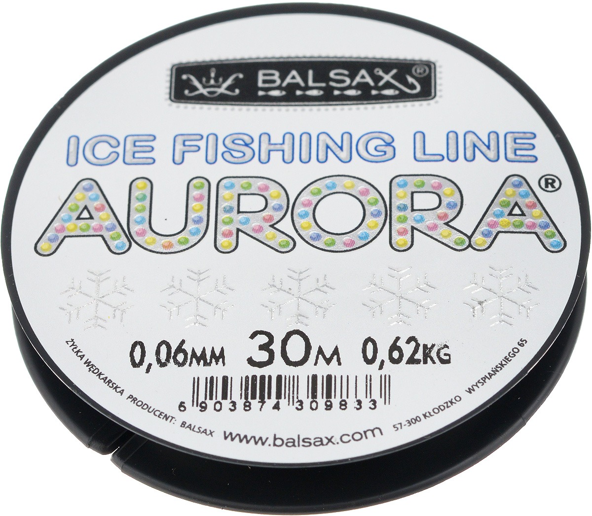 Леска зимняя Balsax Aurora, 30 м, 0,06 мм, 0,62 кг1232630Леска Balsax Aurora изготовлена из 100% нейлона и очень хорошо выдерживает низкие температуры. Даже в самом холодном климате, при температуре вплоть до -40°C, она сохраняет свои свойства практически без изменений, в то время как традиционные лески становятся менее эластичными и теряют прочность.Поверхность лески обработана таким образом, что она не обмерзает и отлично подходит для подледного лова. Прочна в местах вязки узлов даже при минимальном диаметре.
