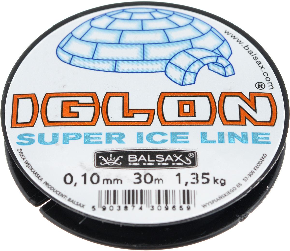 Леска зимняя Balsax Iglon, 30 м, 0,10 мм, 1,35 кг310-06025Леска Balsax Iglon изготовлена из 100% нейлона и очень хорошо выдерживает низкие температуры. Даже в самом холодном климате, при температуре вплоть до -40°C, она сохраняет свои свойства практически без изменений, в то время как традиционные лески становятся менее эластичными и теряют прочность.Поверхность лески обработана таким образом, что она не обмерзает и отлично подходит для подледного лова. Прочна в местах вязки узлов даже при минимальном диаметре.