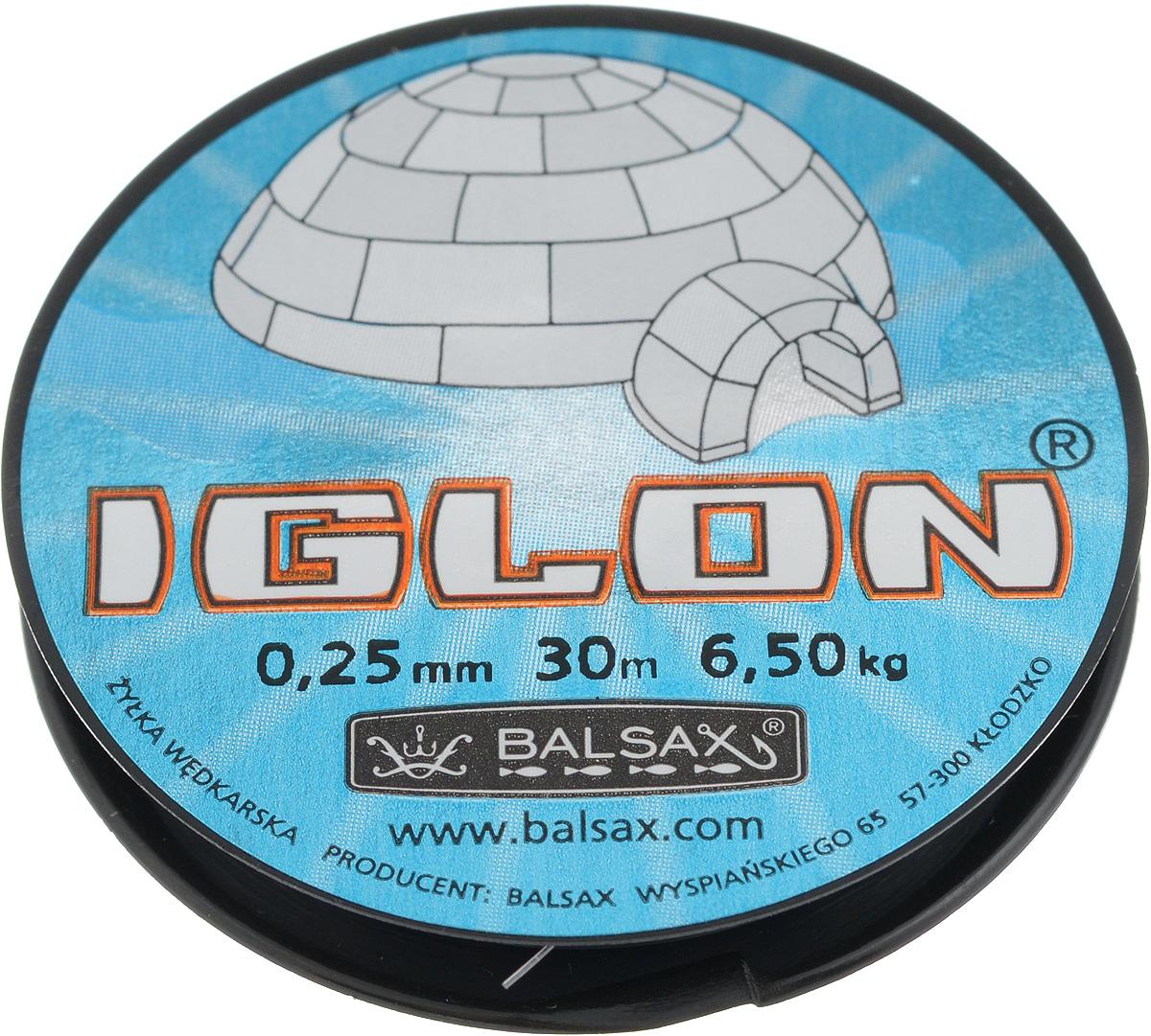 Леска зимняя Balsax Iglon, 30 м, 0,25 мм, 6,5 кг308-00032Леска Balsax Iglon изготовлена из 100% нейлона и очень хорошо выдерживает низкие температуры. Даже в самом холодном климате, при температуре вплоть до -40°C, она сохраняет свои свойства практически без изменений, в то время как традиционные лески становятся менее эластичными и теряют прочность.Поверхность лески обработана таким образом, что она не обмерзает и отлично подходит для подледного лова. Прочна в местах вязки узлов даже при минимальном диаметре.