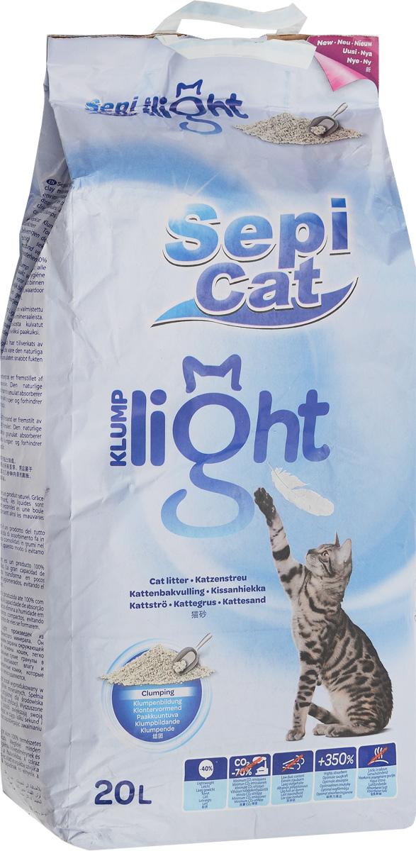 Наполнитель для кошачьих туалетов SepiCat Натуральный, комкующийся, облегченный, классический, 20 л20746Облегченный комкующийся наполнитель Sepicat Натуральный очень прост в использовании. Его легкий вес позволит поддерживать лоток вашего любимца в чистоте легко и просто. Использование мешка объемом 20 литров рассчитано 80 дней (для кошки среднего размера весом до 5 кг). Наполнитель бережно относится к окружающей среде (в соответствии с исследованием, проведенным PWC-Ecobilan). Больший размер гранул отлично подходит кошкам с длинной шерстью.Товар сертифицирован.