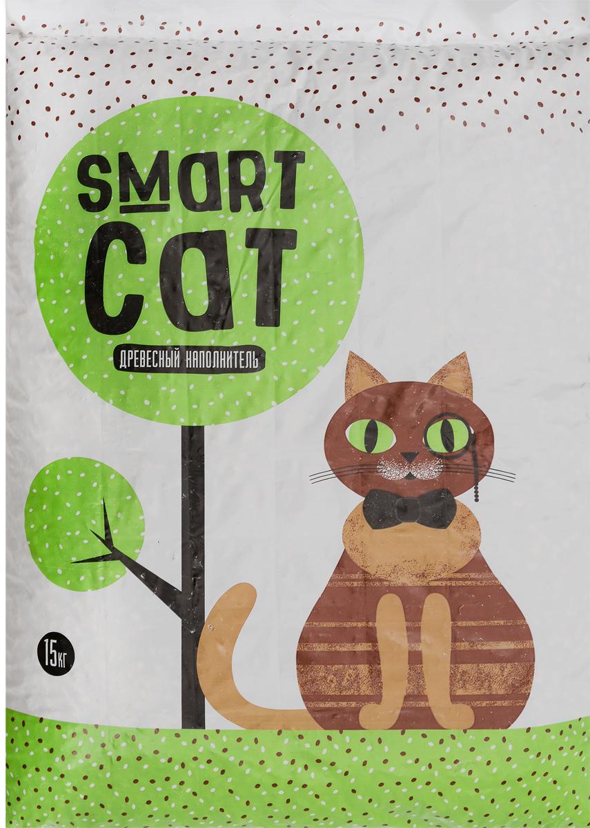Наполнитель для кошачьих туалетов Smart Cat, древесный, 15 кг0120710Наполнитель Smart Cat, выполненный из древесины хвойных и лесных пород, мгновенно впитывает влагу и надежно устраняет неприятные запахи. Преимущества наполнителя Smart Cat: - экологичный (не загрязняет окружающую среду),- безопасный (не вызывает аллергии у животных и людей). Наполнитель Smart Cat заботится о чистоте вашего дома и комфорте питомца!Товар сертифицирован.