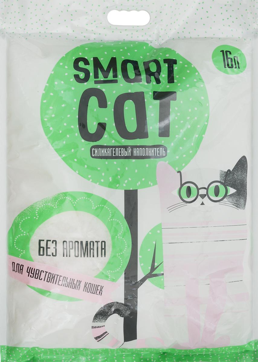 Наполнитель для кошачьих туалетов Smart Cat, силикагелевый, для чувствительных кошек, без аромата, 16 л24573Силикагелевый наполнитель Smart Cat представляет собой мелкие белоснежные гранулы, изготовленные из сухого геля поликремниевой кислоты. Такой состав обладает прекрасной способностью впитывать жидкость, а также мгновенно поглощать и удерживать туалетные запахи.Наполнитель Smart Cat не вызывает у питомцев аллергических реакций, не поднимает пыль при использовании и не прилипает к нежным кошачьим лапкам и длинной шерсти, а значит, не разносится по окружающей туалет территории. Использованный наполнитель из силикагеля удаляется из кошачьего лотка специальным совочком и утилизируется в мусорное ведро (его нельзя выбрасывать в унитаз).Специальная формула без запаха разработана специально для кошек с особо чувствительным обонянием.Наполнитель Smart Cat заботится о чистоте вашего дома и комфорте питомца! Товар сертифицирован.