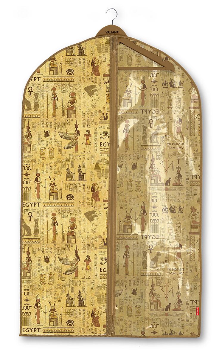 Чехол для одежды Valiant Egypt, с прозрачной вставкой, 60 х 100 см чехол для одежды hausmann подвесной с прозрачной вставкой цвет серый 60 х 100 см