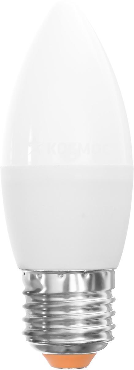 Светодиодная лампа Kosmos, теплый свет, цоколь E27, 7W, 220V. Lksm_LED7wCNE2730C0038552Светодиодная лампа Kosmos инновационный и экологичный продукт, специально разработанный для эффективной замены любых видов галогенных или обыкновенных ламп накаливания во всех типах осветительных приборов. Основные преимущества лампы Kosmos: Служит 30000 часов, что в 30 раз дольше лампы накаливания. Экономична - сберегает до 90% электроэнергии. Обладает высокой механической прочностью и вибростойкостью. Устойчива к перепадам температуры (от -40°С до +50°С).Уважаемые клиенты! Обращаем ваше внимание на возможные изменения в дизайне упаковки. Качественные характеристики товара остаются неизменными. Поставка осуществляется в зависимости от наличия на складе.
