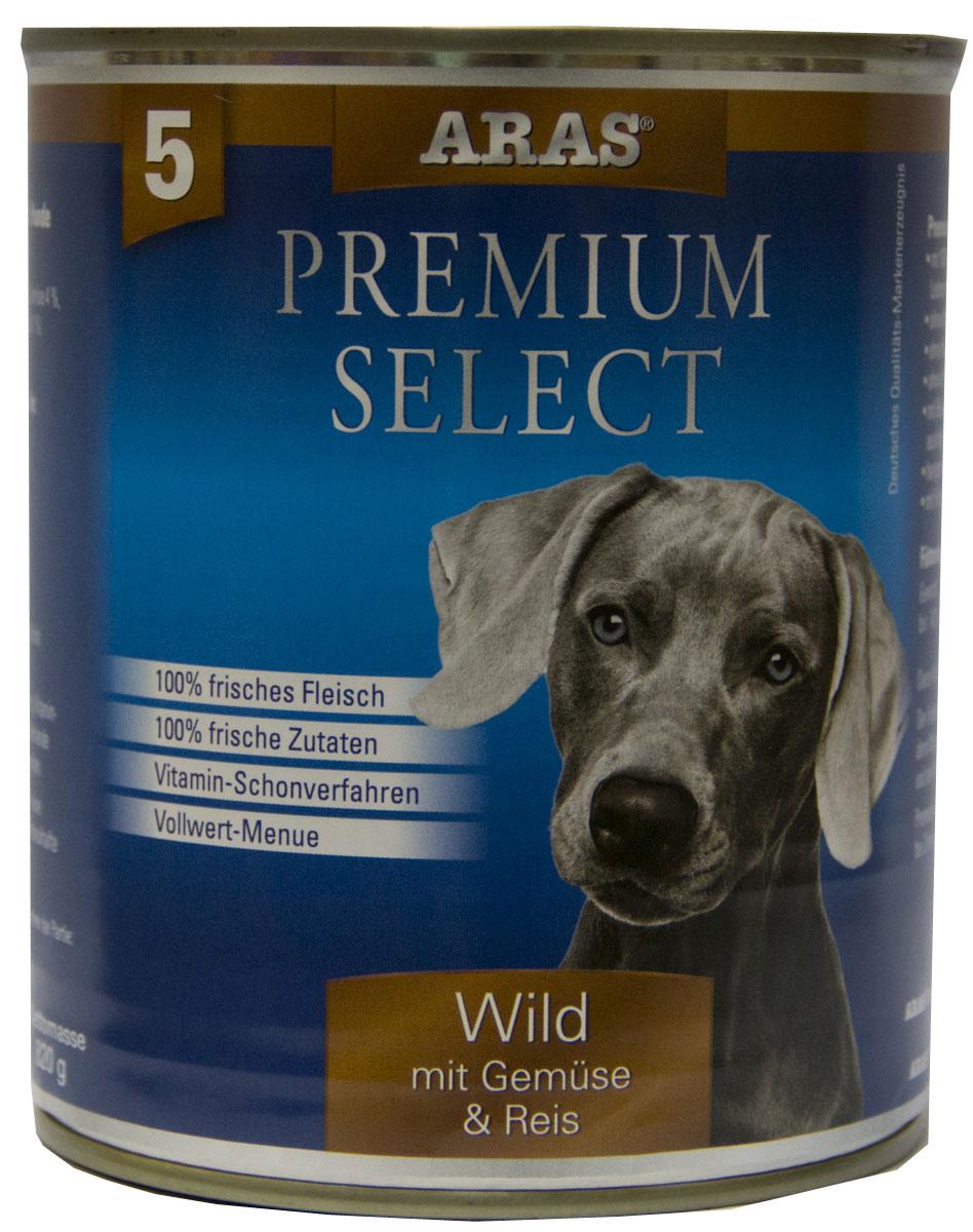 Консервы для собак Aras Premium Select, с дичью, овощами и рисом, 820 г0120710Консервы для собак Aras Premium Select - повседневный консервированный корм для собак всех пород и всех возрастов. Бережная обработка отборных ингредиентов высочайшего качества, используемых при изготовлении корма, обеспечивает вашего питомца здоровым и сбалансированным питанием. Благодаря содержанию высококачественного белка, полученного из свежего мяса, вашему питомцу требуется меньшее количества корма, чем кормов других марок. Особенности корма: - 80% содержание мяса- Изготовлен из 100% свежего мяса, пригодного в пищу человеку- Без химических красителей и усилителей вкуса- Без консервантов- Без химических добавок- Из 100% свежих ингредиентов- С экстрактом масла зародышей пшеницы холодного отжима- Сохранение натуральных витаминов в процессе изготовления- Гарантия свежестиСостав: свежее мясо дичи и субпродукты 92%, овощи (морковь, лук-порей) 4%, рис 3%, экстракт зародышей пшеницы холодного отжима 1%. Пищевая ценность: белки 12,8%, жиры 6,0%, зола 2,1%, клетчатка 0,4%, влажность 77,4%. Товар сертифицирован.