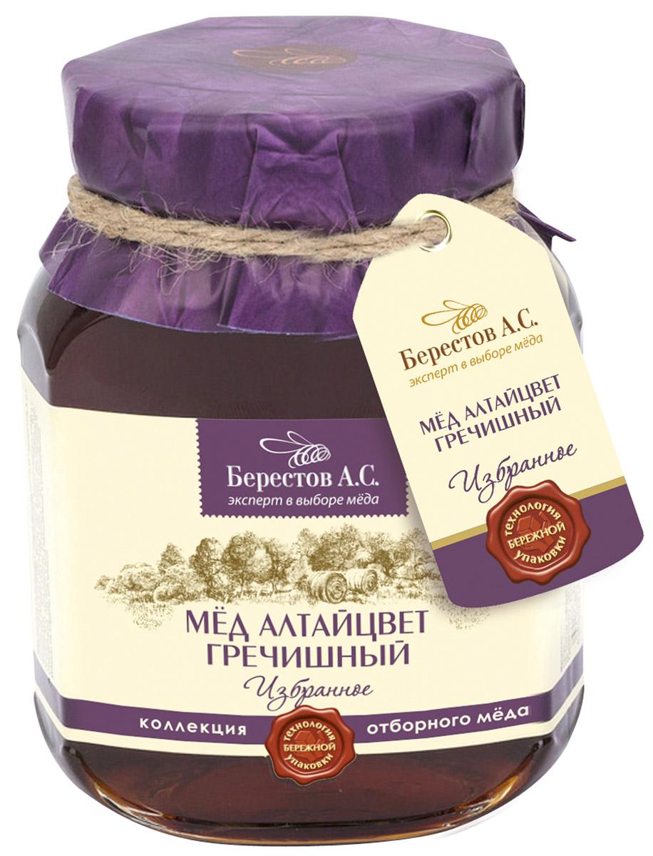 Берестов Мед Гречишный, 500 г0120710Гречишный мед из коллекции Избранное - Это ароматный, с лёгкой горчинкой мёд, содержащий гораздо больше железа по сравнению с другими сортами, что делает его особенно ценным.Гречишный мед, это роскошный терпкий мёд с легким коньячным послевкусием. Горный воздух Алтая и редчайшие целебные медоносы дарят мёду поистине чарующий букет корицы, грецкого ореха и чернослива с нотками карамели, муската и едва уловимым оттенком тмина. Гречишный мед содержит больше количество белков и минеральных веществ, особенно железа. Рекомендуется при авитаминозах, гипертонии, при кровоизлияниях в мозг и сетчатку глаза.ТОПовая линейка меда Берестов. Это отборный мед контролируемого места происхождения. Каждая банка меда имеет паспорт качества и происхождения. Каждая позиция в составе линейки Избранное обладает наиболее выраженными качественными характеристиками свойственными для данного сорта меда.Мед Берестов Избранное трижды признавался экспертами Федерации пчеловодов лучшим медом России по уровню и стабильности качественных характеристик в соответствии с ГОСТ.Мед для линейки Избранное собирается только в лучших медоносных регионах - в Алтайском крае, Башкортостане, Хабаровском крае. Упаковка меда ведется холодным методом сохраняющим 100% биологических свойств продукта. Упаковка производится на Берестовской фабрике натуральных продуктов сертифицированной по стандарту менеджмента качества ISO.Мед Берестов Избранное лидирует в рейтинге экспорта меда компании. Поставляется в США, ОАЭ, Китай и другие страны.