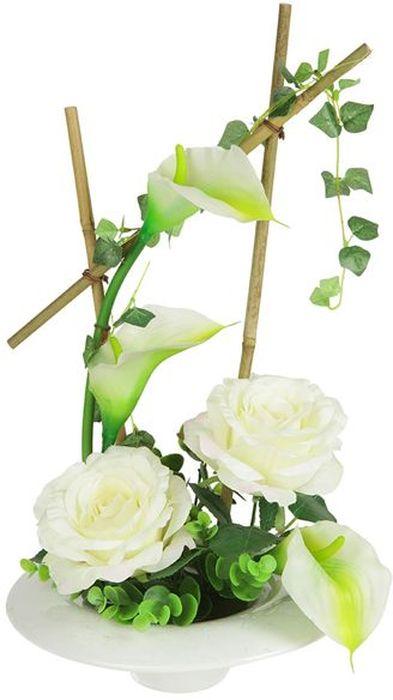 Цветы декоративные Dream Garden Розы и каллы, на подставке, 24 х 24 х 43,5 см. DG-15009-AL302943Композиции из искусственных цветов Dream Garden, выполненные из высококачественных материалов, долговечны и не требуют ежедневного ухода. Искусственные цветы максимально приближены к натуральным, не пахнут, что исключает все аллергические реакции.