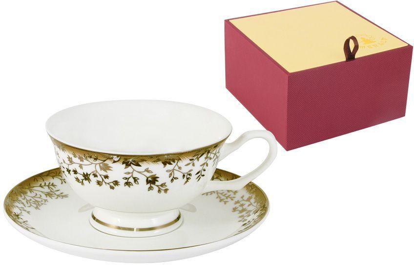 Чайная пара Emerald Золотой луг, 2 предмета115510Чайная пара Emerald Золотой луг состоит из чашки и блюдца, изготовленных из высококачественного костяного фарфора. Яркий дизайн изделий, несомненно, придется вам по вкусу.Чайная пара Emerald Золотой луг украсит ваш кухонный стол, а также станет замечательным подарком к любому празднику.Объем чашки: 200 мл.